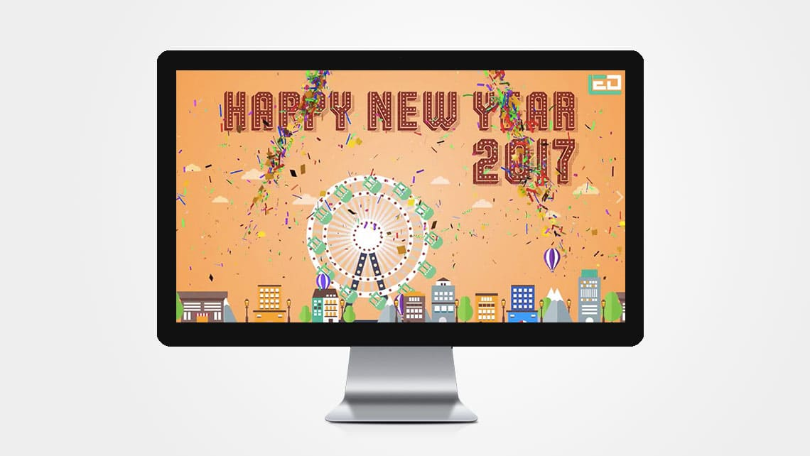 Happy New Year Wishes by Leading Edge Designers