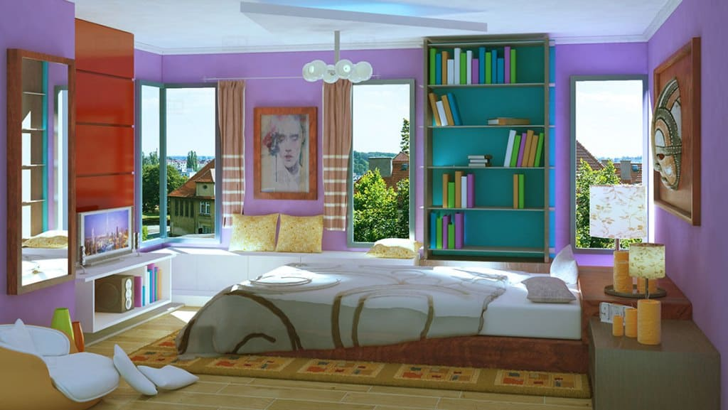 Bedroom Interior Architectural Model By Leading Edge Designers
