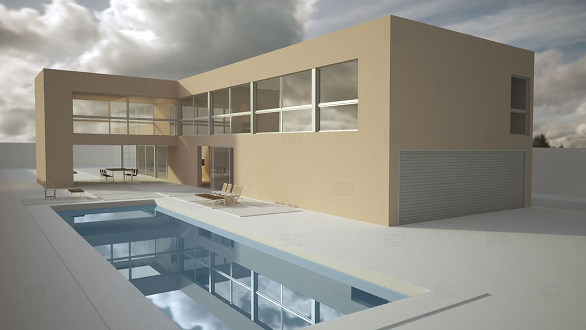 House Exterior Architectural Model By Leading Edge Designers