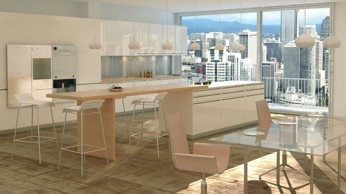 Kitchen Interior Architectural Model By Leading Edge Designers