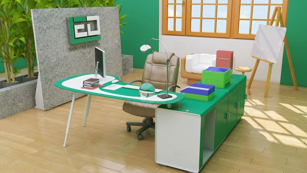Office Interior Architectural Model By Leading Edge Designers