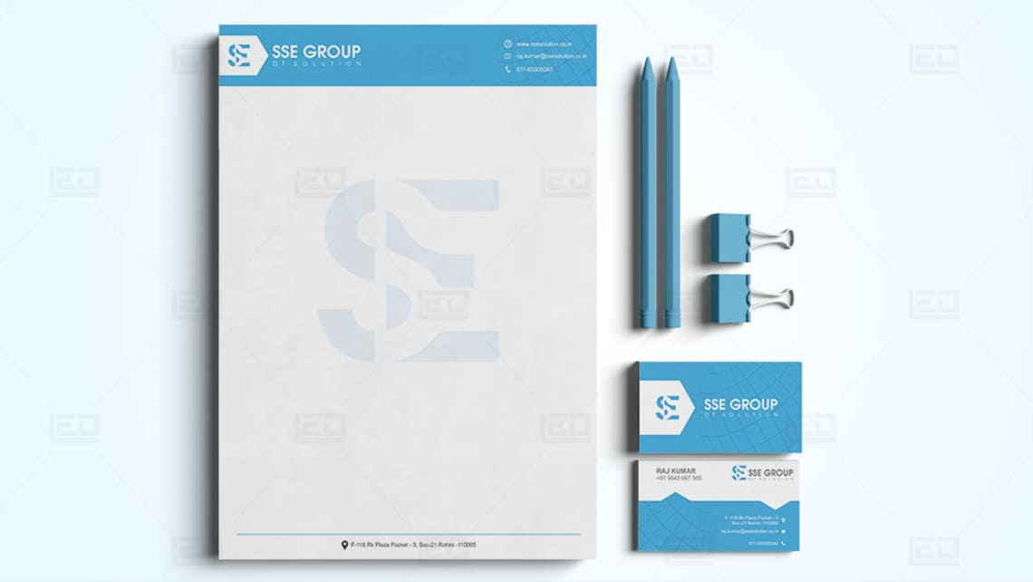 SSE Letterhead & Business Card Design by Leading Edge Designers