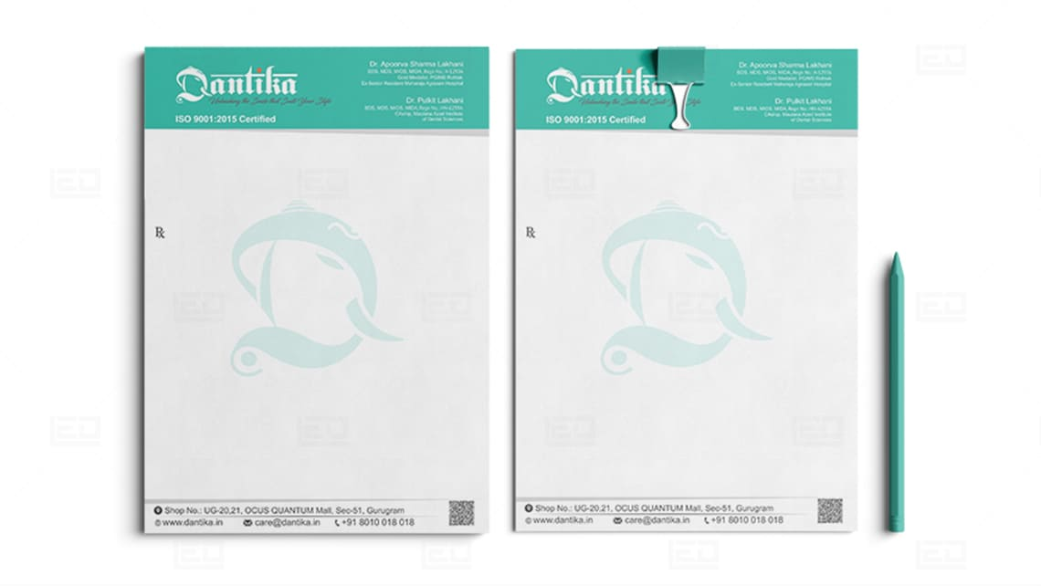 Dantika Letterhead Design by Leading Edge Designers