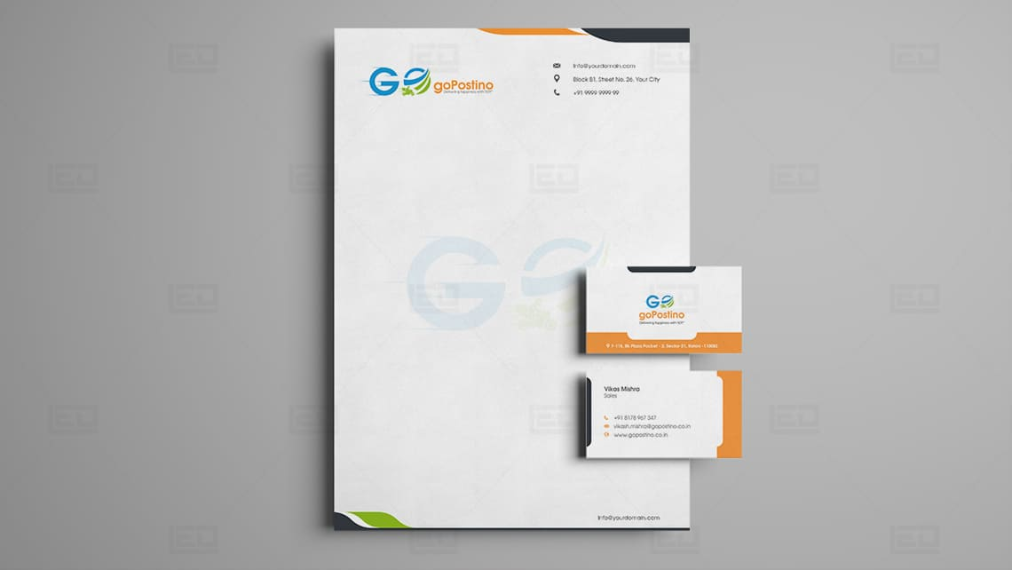 Gopostino Letterhead & Business Card Design by Leading Edge Designers