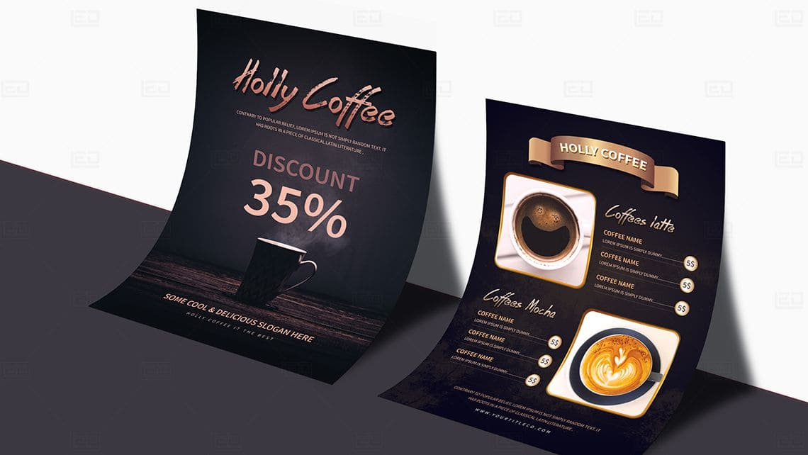 Sample Coffee House Flyer by Leading Edge Designers
