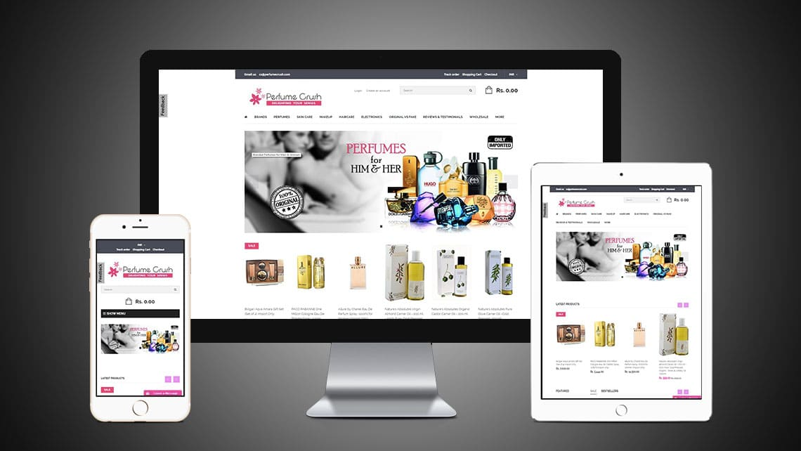 Premium Crush Web Design By Leading Edge Designers