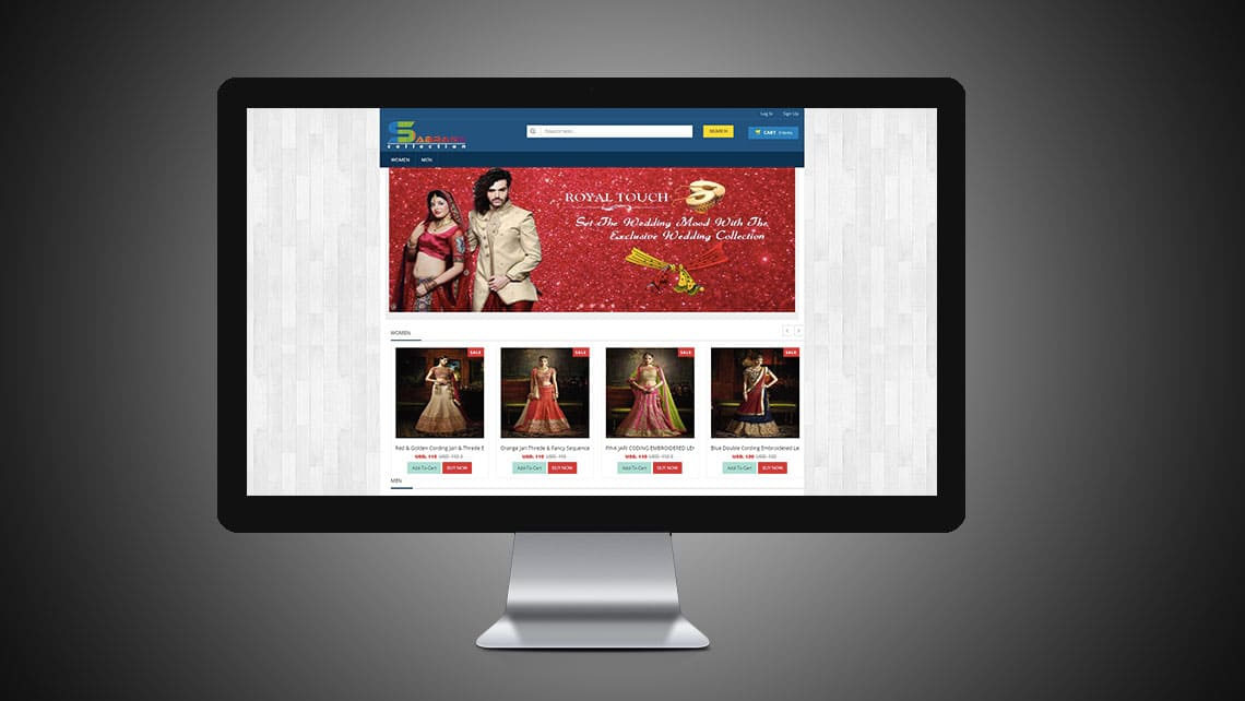 Sabrang Collection Web Design By Leading Edge Designers